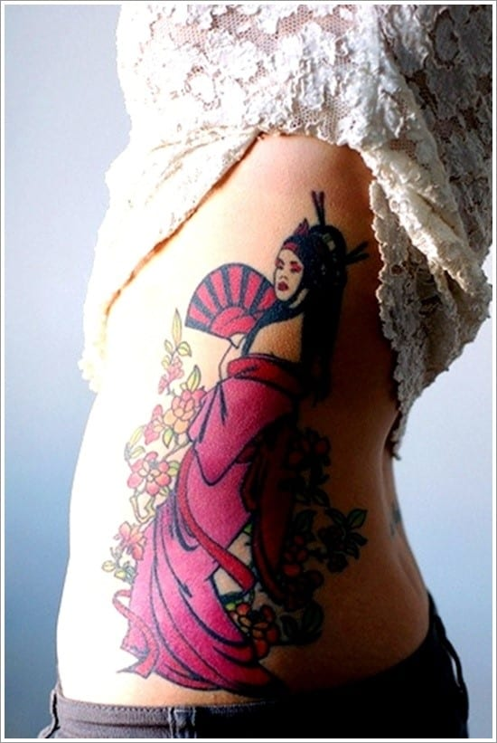 Geisha-Tattoo-Designs