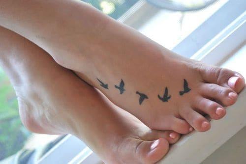 Foot Bird Tattoos