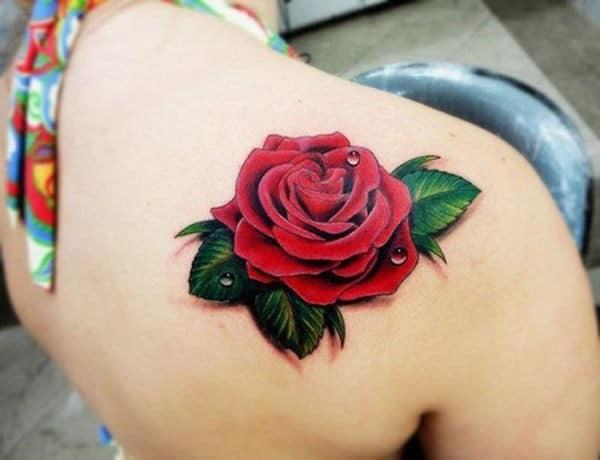 3D Rose Tattoo