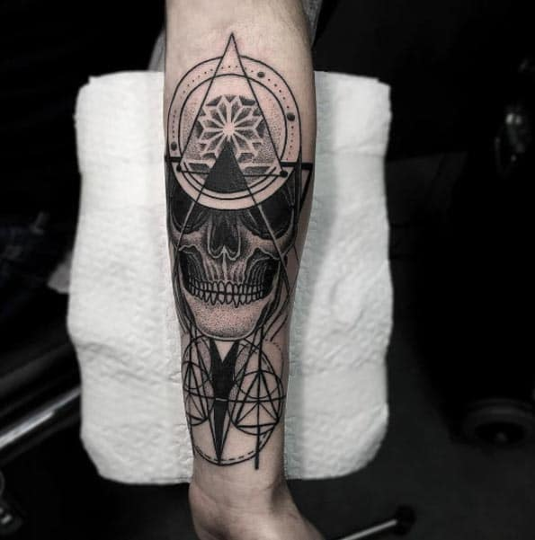 Blackwork Forearm Tat by Otheser
