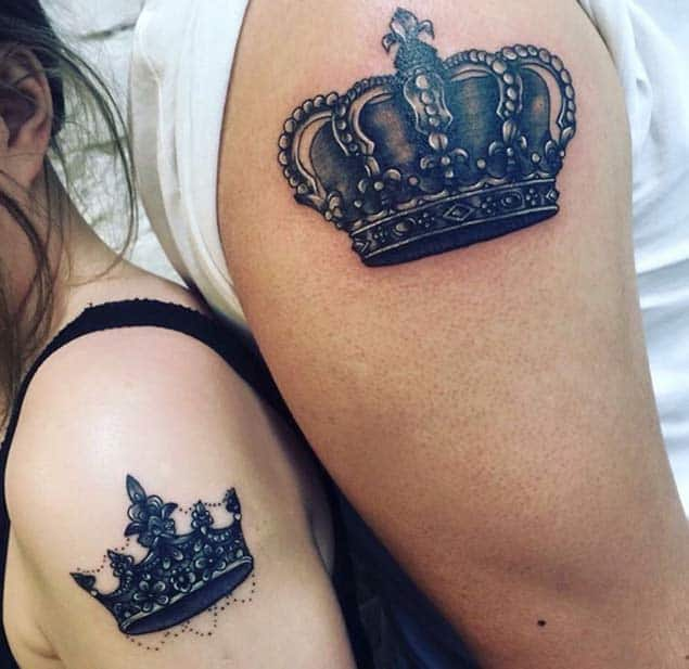 Matching King and Queen Crowns by