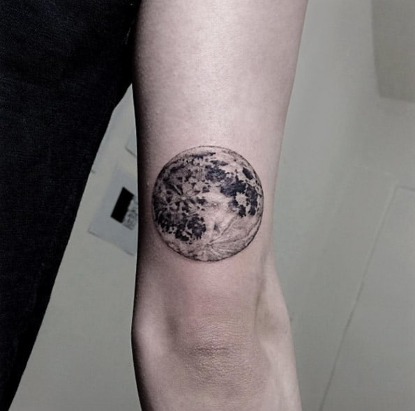 Moon Tattoo Design by OZZY
