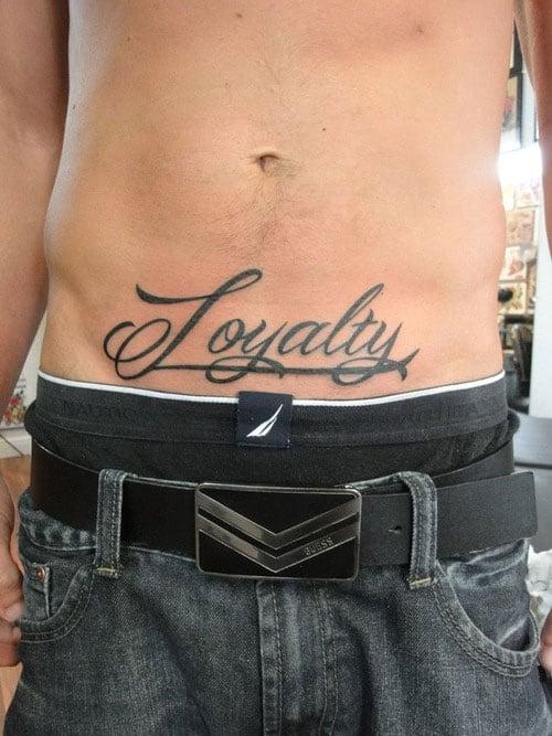 Loyalty Lower Abdomen Stomach Tattoo