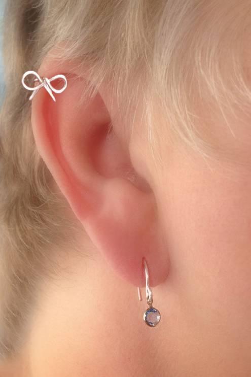 Cartilage Piercing Dainty Bow Pierced Stud