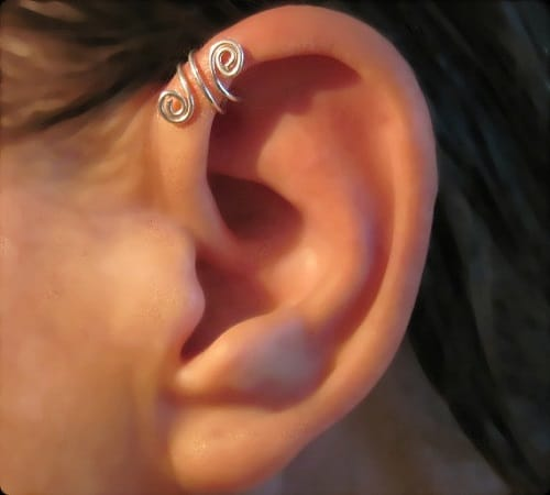 Handmade Copper Wire Spiral Helix piercing Jewelry