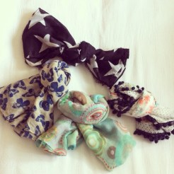 A small sample of my scarf collection.
