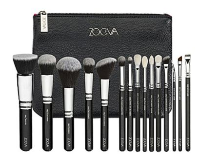 Zoeva Black travel makeup brushes
