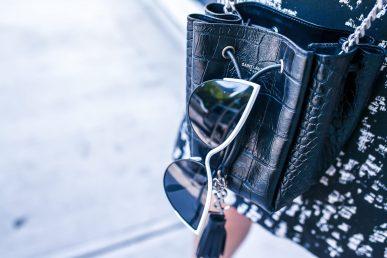 Dan liu classic shift dress getty images nyfw new york fashion week 2018 sequin jewelry ysl saint laurent vye eyewear sunglasses cateye loren hope bracelet croc embossed bucket bag etienne aigner sandal block heel suede