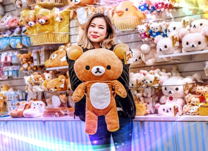 Kasey Ma of TheStyleWright At the Rilakkuma Pop-Up Store in Times Square, New York City