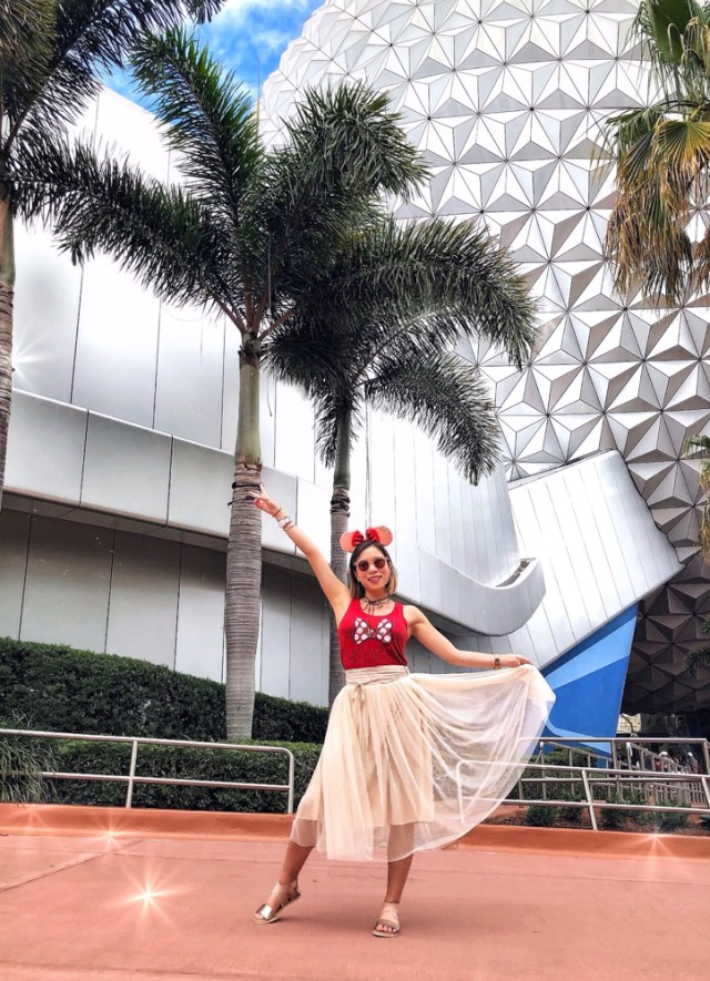 Kasey Ma of The StyleWright Posing at Disney World in Tulle Dress