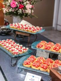 Minnie's Garden Party Minnie Themed Desserts on Trays