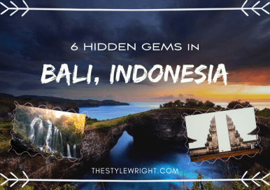 6 Hidden Gems in Bali, Indonesia on the Travel section on Kasey Ma's TheStyleWright.com Blog
