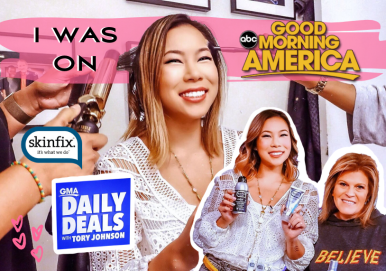 Kasey Ma of thestylewright on good morning america and skinfix review