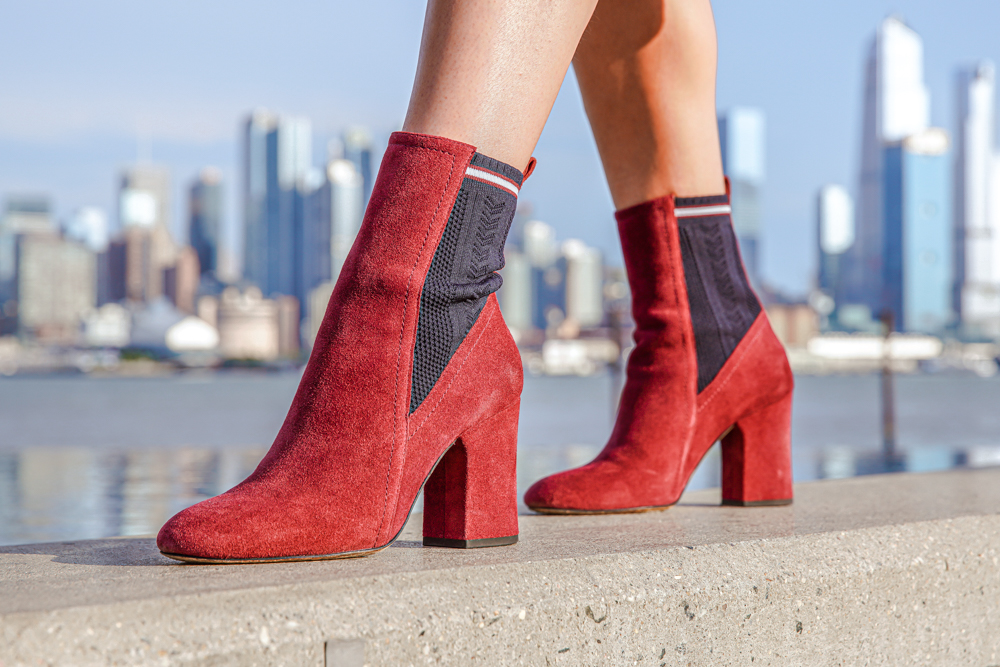 Kasey Ma of The StyleWright rocking her red booties at New York Fashion Week