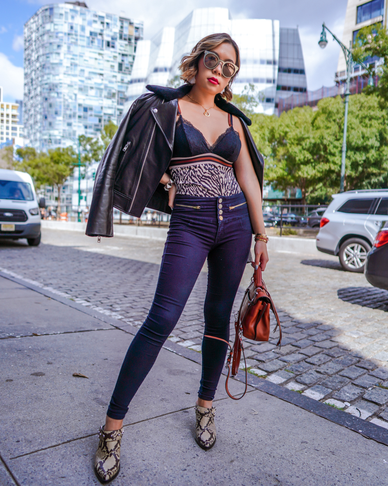 Kasey Ma of The StyleWright rocking her Rebecca Minkoff look at New York Fashion Week