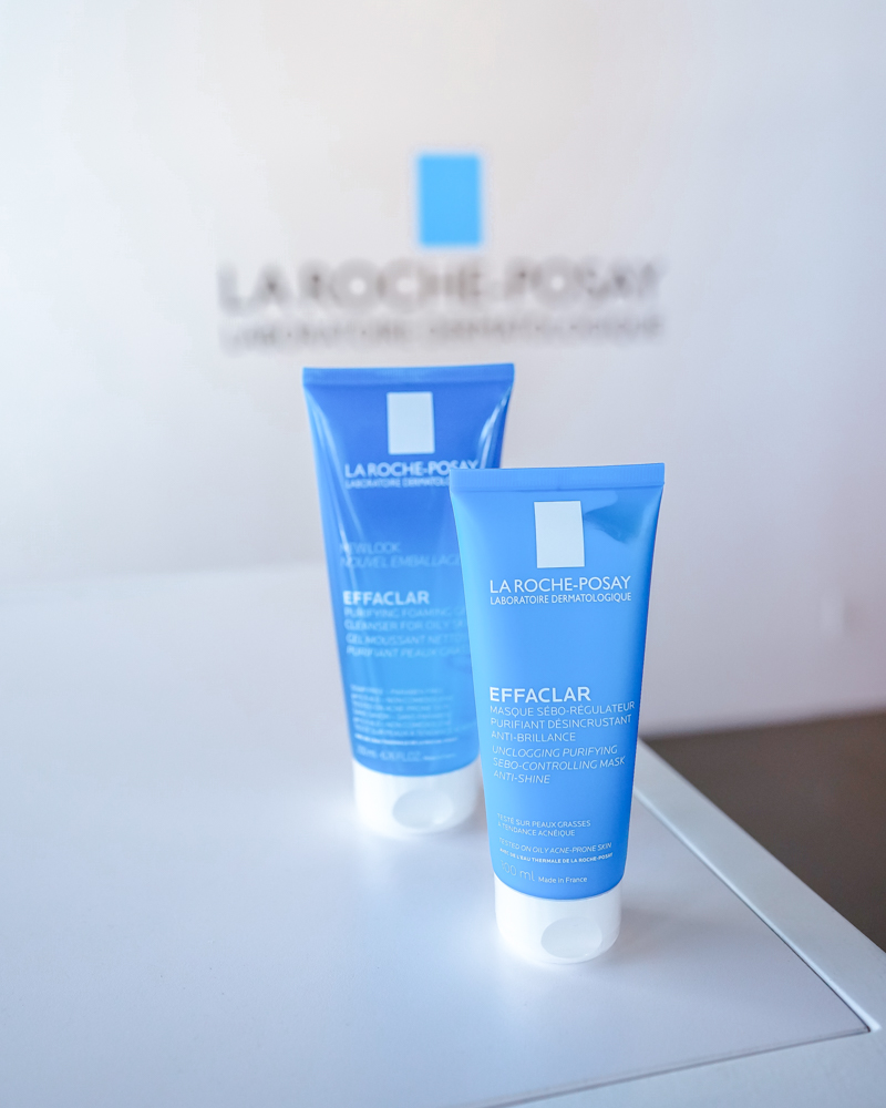 Acne Treatment from La Roche-Posay with the La Roche-Posay Effaclar Purifying Foaming Gel Cleanser for Oily Skin and the La Roche-Posay Effaclar Clarifying Clay Face Mask for Oily Skin