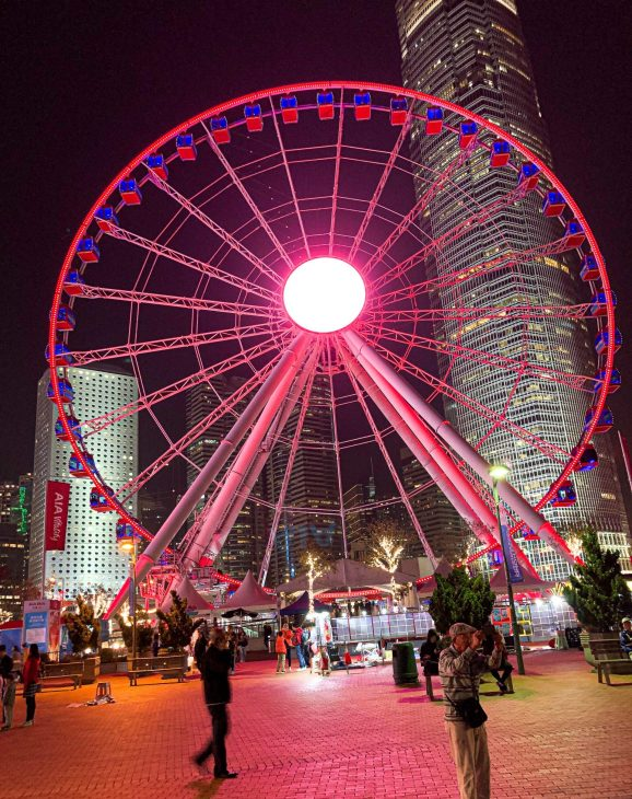 AIA Carnival Ferris Wheel in Hong Kong