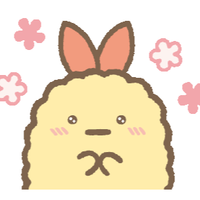 Ebifurai No Shippo gurashi cartoon, fried shrimp tail one of the sumikko gurashi characters