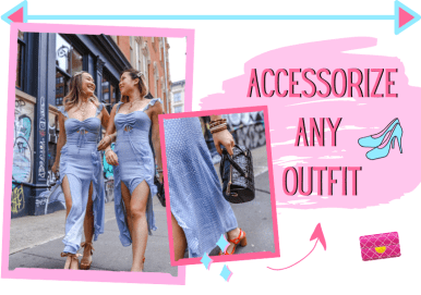 kasey ma of thestylewright wearing a bag with the aimee song of style dress fashion writes about how to accessorize any outfit talks about accessorizing any outfit to spice it up