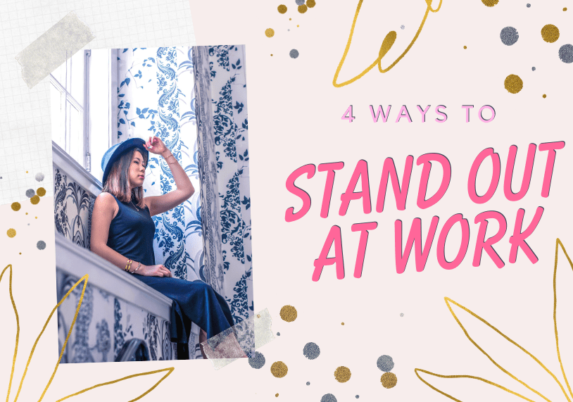 kasey ma of thestylewright in a black dress and talks about 4 ways you can stand out at work