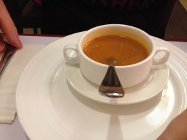Tomato soup at Tulsi