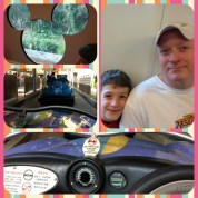Day 2 Disneyland, first thing, drive little cars around in a circle.
