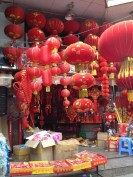 Local shops celebrating Chinese New Year, just love this view!