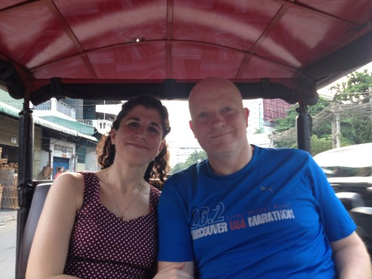 On TukTuk heading to Lemongrass restaurant.
