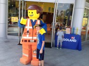 Kiddo with Emmett from The Lego Movie.