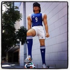 Adidas random statues around Causeway Bay...