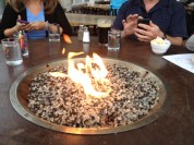 We appreciated the fire since we were in outside seating area.