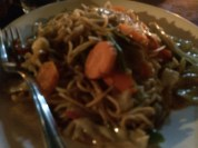 Pancit - love this noodle dish but prefer what we have at home.