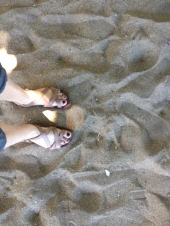 Hello toes, hello sand