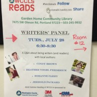 Enjoyed a writer's panel experience... two were authors I adore and have featured on the blog!