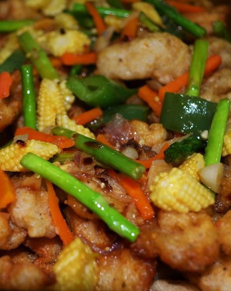 Chicken and White Fish Stir Fry
