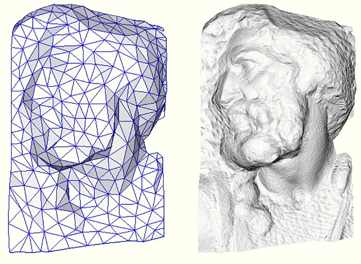 A sinistra mash semplificata, a destra mash semplificata con mapping.