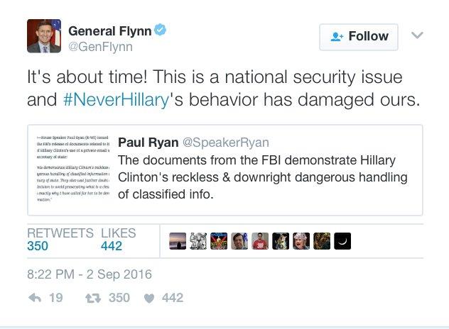 Finalmente! È una questione di sicurezza nazionale, e il comportamento di Hillary ci ha danneggiato.