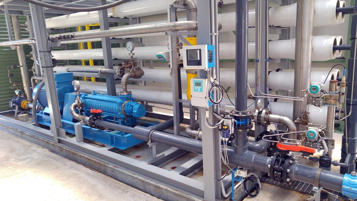 La turbomacchina ad alta pressione e una batteria di filtri a membrana