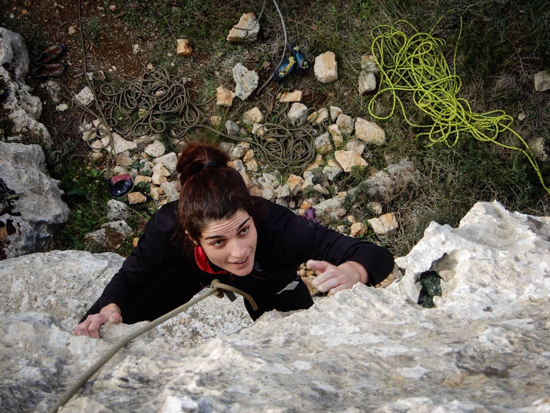 Portare l'arrampicata sulle montagne della West Bank