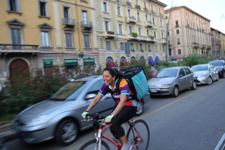 Donne che fanno le riders