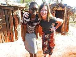 Goodwill Ambassador Chelsie Strowbridge in Africa.