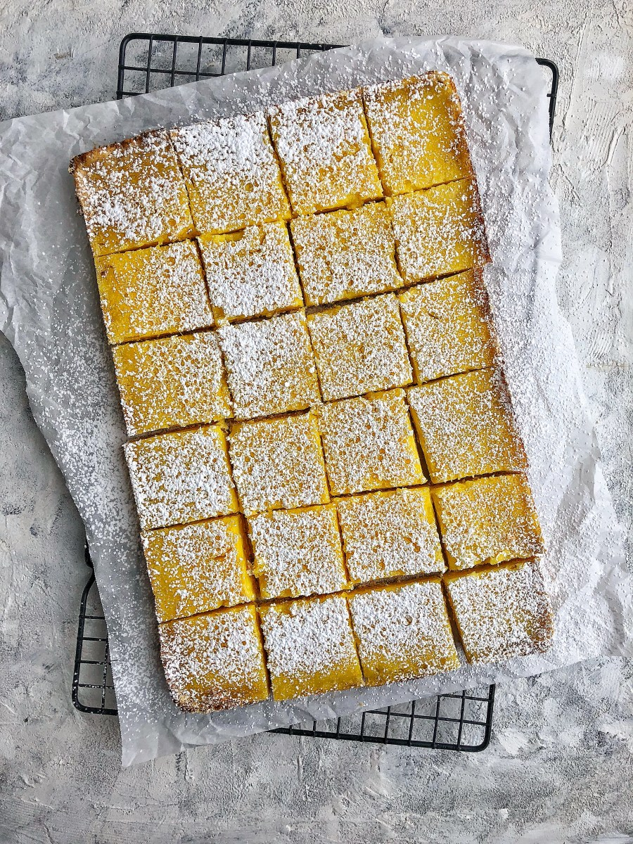 Not-Too-Sweet Meyer Lemon Bars