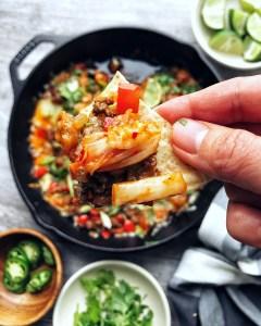 Kimchi Queso Cheese Dip