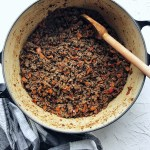 Basic chili - browning the meat