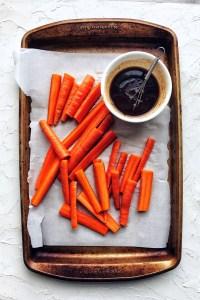 Gochujang roasted carrots, sheet pan
