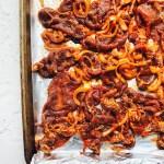 Spicy Korean Pork, sheet pan