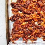 Spicy Korean Pork, sheet pan