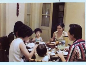photograph, family dinner