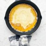 dutch pancake batter in pan