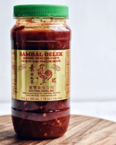bottle of sambal oelek